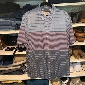 Original Penguin Slim Fit Striped Button Down